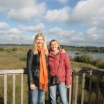 Rieselfelder Münster (3) Daniella Groothuis (Benefit & Joy) mit Dolmetscherin Mia Iordache (re)