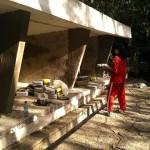 3. Renovierung des ersten Geheges (4)