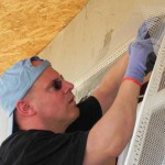 Putzarbeiten am Haus der Familie Glavan (1)