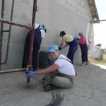 Putzarbeiten am Haus der Familie Glavan (4)