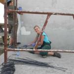 Putzarbeiten am Haus der Familie Glavan (5)