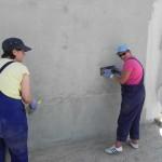 Putzarbeiten am Haus der Familie Glavan (6)