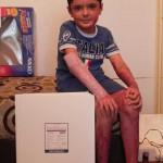 Sept. 2012 - Narbenpflaster von Biodermis für Mihaita