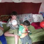 Sachspenden Familie mit 5 Kindern, Craiova (14)